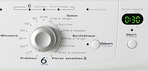 Whirlpool - AWZ3790 - Interface de commande