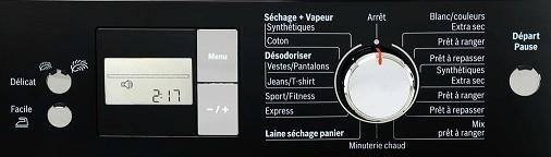 Sèche linge - Programmation électronique
