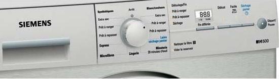 Sèche Linge Siemens - WT46E3X1FF - Interface de commande