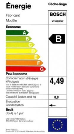 Bosch - WTS865B3FF - Label Energie