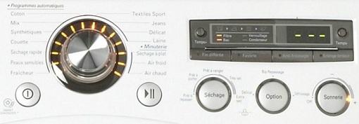 Sèche Linge LG - RC8031WG - Interface de commande