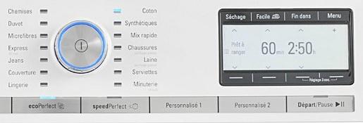 Sèche Linge Siemens - WT48Y880FF - Interface de commande