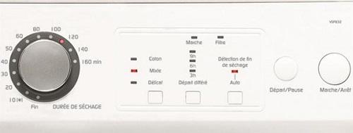 Sèche Linge Vedette - VSF 832 - Interface de commande
