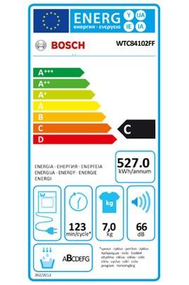 Sèche Linge Bosch - WTC84102FF - Label Energie