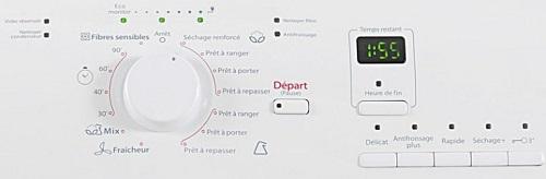 Sèche Linge Whirlpool - AZB8575 - Interface de commande