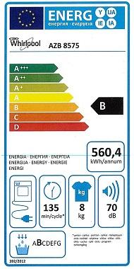 Sèche Linge Whirlpool - AZB8575 - Label Energie