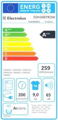 Sèche Linge Electrolux - EDH3497RDW - Label Energie