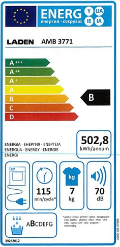 Sèche Linge Laden - AMB3771 - Label Energie