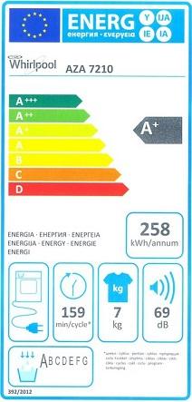 Sèche Linge Whirlpool - AZA7210 - Label Energie