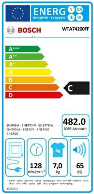 Sèche Linge Bosch - WTA74200FF - Label Energie