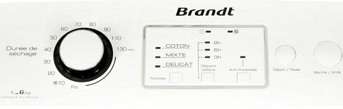Sèche Linge Brandt - ETE 6116F - Interface de commande