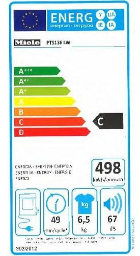 Sèche Linge Miele - PT 5136 - Label Energie