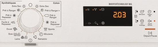 Sèche Linge Electrolux - EDH3787GSE - Commandes
