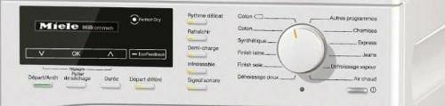 Sèche Linge Miele - TKG840 WP - Commandes