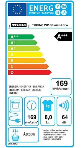 Sèche Linge Miele - TKG840 WP - Label Energie