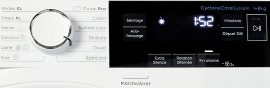 Sèche Linge Electrolux - Perfect Care 900 EW9H3825RA - Commandes