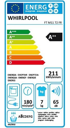 Sèche Linge Whirlpool - Freshcare FTM1172FR - Label Energie